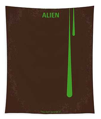 No004 My Alien Minimal Movie Poster Tapestry