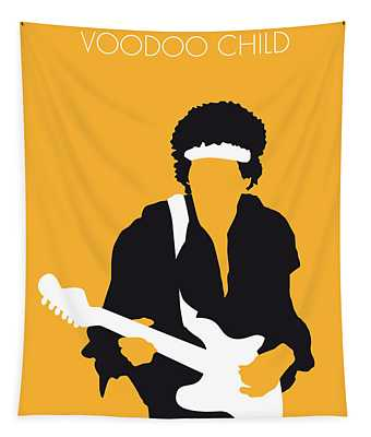 No014 My Jimi Hendrix Minimal Music Poster Tapestry