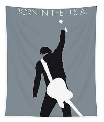 No017 My Bruce Springsteen Minimal Music Poster Tapestry