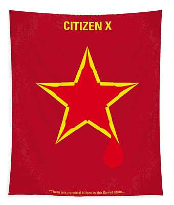 No017 My Citizen X Minimal Movie Poster Tapestry