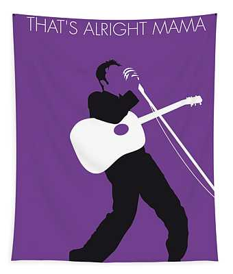 No021 My Elvis Minimal Music Poster Tapestry