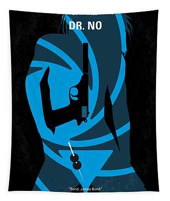 No024 My Dr No James Bond Minimal Movie Poster Tapestry