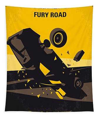 No051 My Mad Max 4 Fury Road Minimal Movie Poster Tapestry