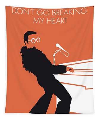 No053 My Elton John Minimal Music Poster Tapestry