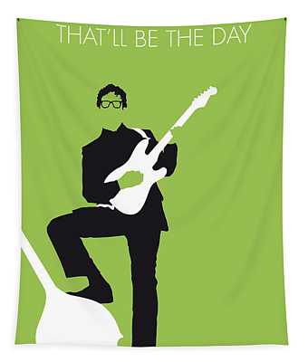 No056 My Buddy Holly Minimal Music Poster Tapestry