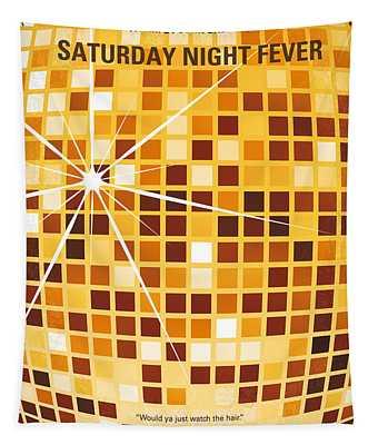 No074 My Saturday Night Fever Minimal Movie Poster Tapestry