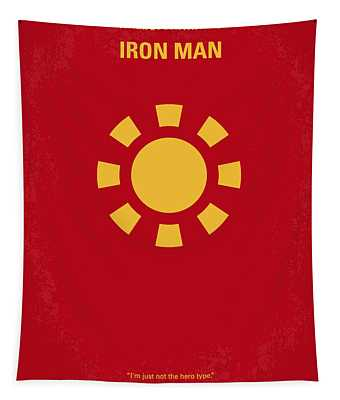No113 My Iron Man Minimal Movie Poster Tapestry