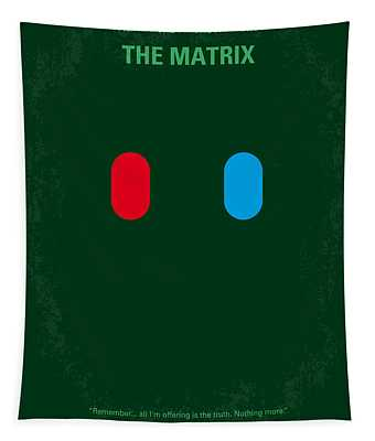 No117 My Matrix Minimal Movie Poster Tapestry