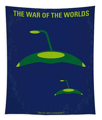 No118 My War Of The Worlds Minimal Movie Poster Tapestry