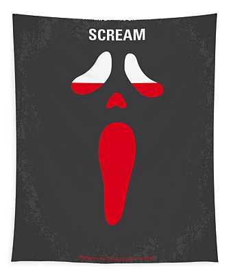 No121 My Scream Minimal Movie Poster Tapestry