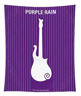 No124 My Purple Rain Minimal Movie Poster Tapestry