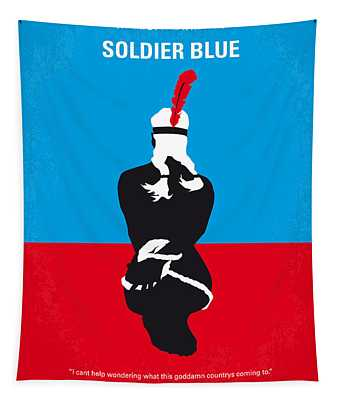 No136 My Soldier Blue Minimal Movie Poster Tapestry