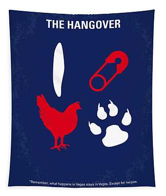 No145 My The Hangover Part 1 Minimal Movie Poster Tapestry