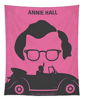 No147 My Annie Hall Minimal Movie Poster Tapestry