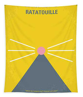 No163 My Ratatouille Minimal Movie Poster  Tapestry