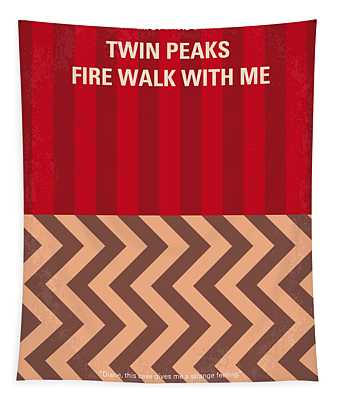 No169 My Fire Walk With Me Minimal Movie Poster Tapestry