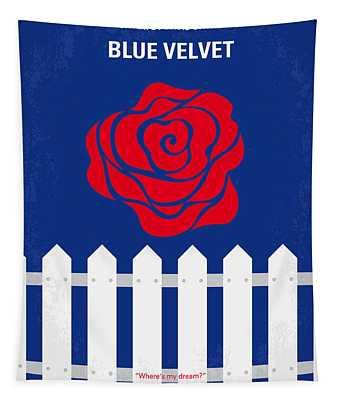 No170 My Blue Velvet Minimal Movie Poster Tapestry