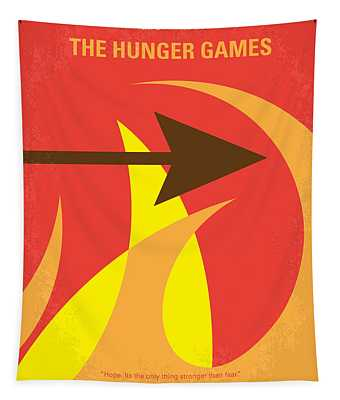 No175 My Hunger Games Minimal Movie Poster Tapestry