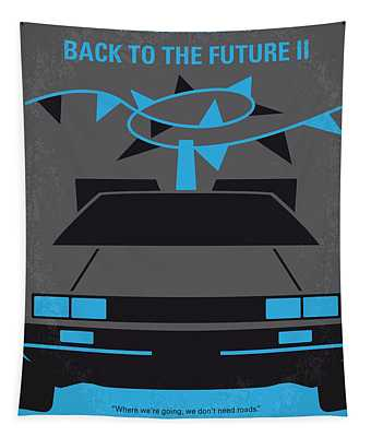No183 My Back To The Future Minimal Movie Poster-part II Tapestry