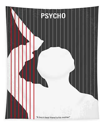 No185 My Psycho Minimal Movie Poster Tapestry