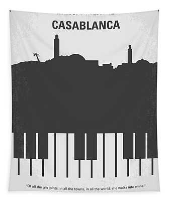 No192 My Casablanca Minimal Movie Poster Tapestry