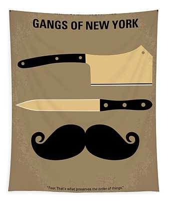 No195 My Gangs Of New York Minimal Movie Poster Tapestry
