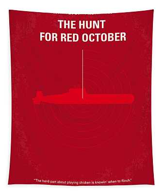 No198 My The Hunt For Red October Minimal Movie Poster Tapestry
