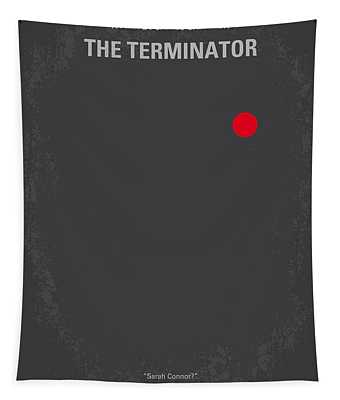 No199 My Terminator Minimal Movie Poster Tapestry