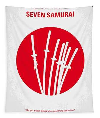 No200 My The Seven Samurai Minimal Movie Poster Tapestry