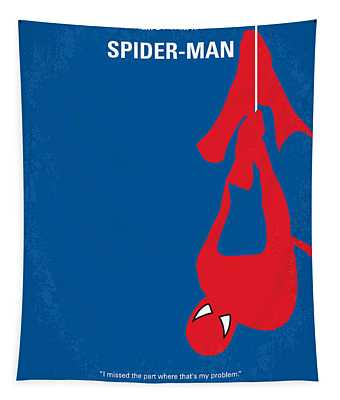 No201 My Spiderman Minimal Movie Poster Tapestry