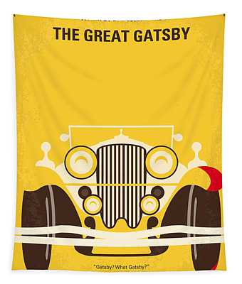 No206 My The Great Gatsby Minimal Movie Poster Tapestry