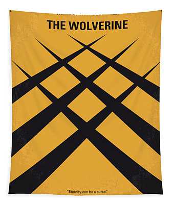 No222 My Wolverine Minimal Movie Poster Tapestry