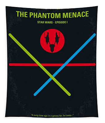 No223 My Star Wars Episode I The Phantom Menace Minimal Movie Poster Tapestry