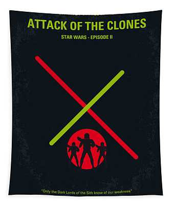 No224 My Star Wars Episode II Attack Of The Clones Minimal Movie Poster Tapestry