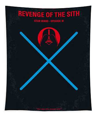 No225 My Star Wars Episode IIi Revenge Of The Sith Minimal Movie Poster Tapestry