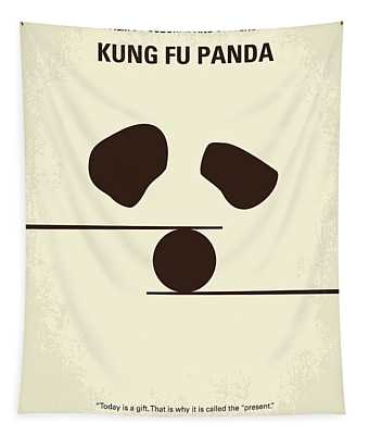No227 My Kung Fu Panda Minimal Movie Poster Tapestry