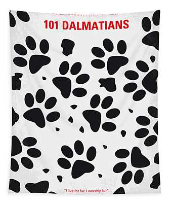 No229 My 101 Dalmatians Minimal Movie Poster Tapestry