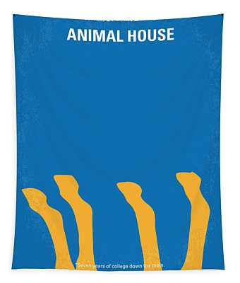No230 My Animal House Minimal Movie Poster Tapestry