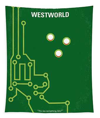 No231 My Westworld Minimal Movie Poster Tapestry