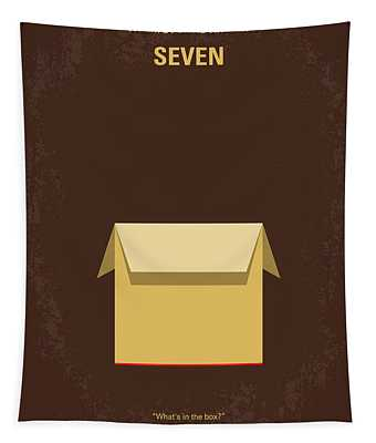 No233 My Seven Minimal Movie Poster Tapestry