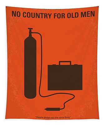 No253 My No Country For Old Men Minimal Movie Poster Tapestry