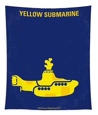 No257 My Yellow Submarine Minimal Movie Poster Tapestry