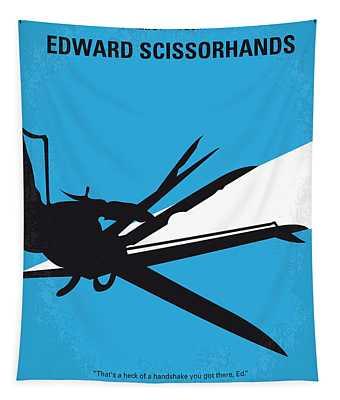 No260 My Scissorhands Minimal Movie Poster Tapestry