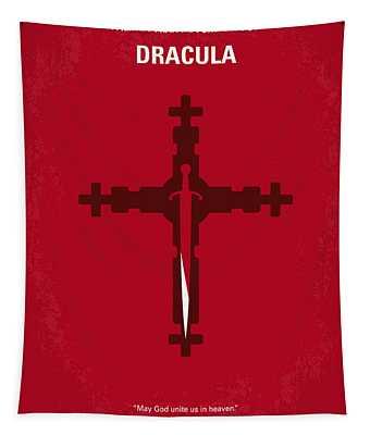 No263 My Dracula Minimal Movie Poster Tapestry