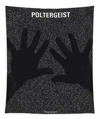 No266 My Poltergeist Minimal Movie Poster Tapestry