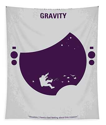 No269 My Gravity Minimal Movie Poster Tapestry