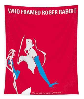 No271 My Roger Rabbit Minimal Movie Poster Tapestry