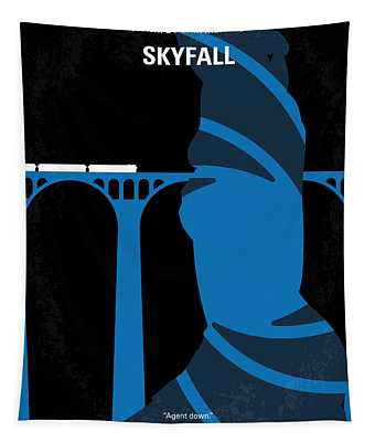 No277-007-2 My Skyfall Minimal Movie Poster Tapestry