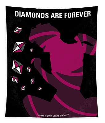 No277-007 My Diamonds Are Forever Minimal Movie Poster Tapestry