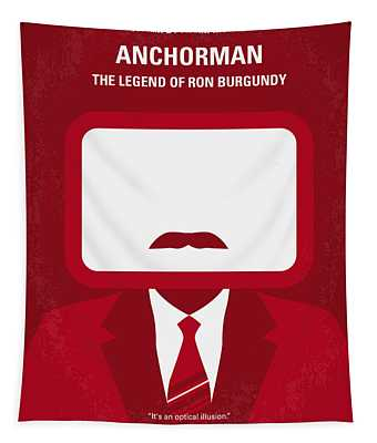 No278 My Anchorman Ron Burgundy Minimal Movie Poster Tapestry